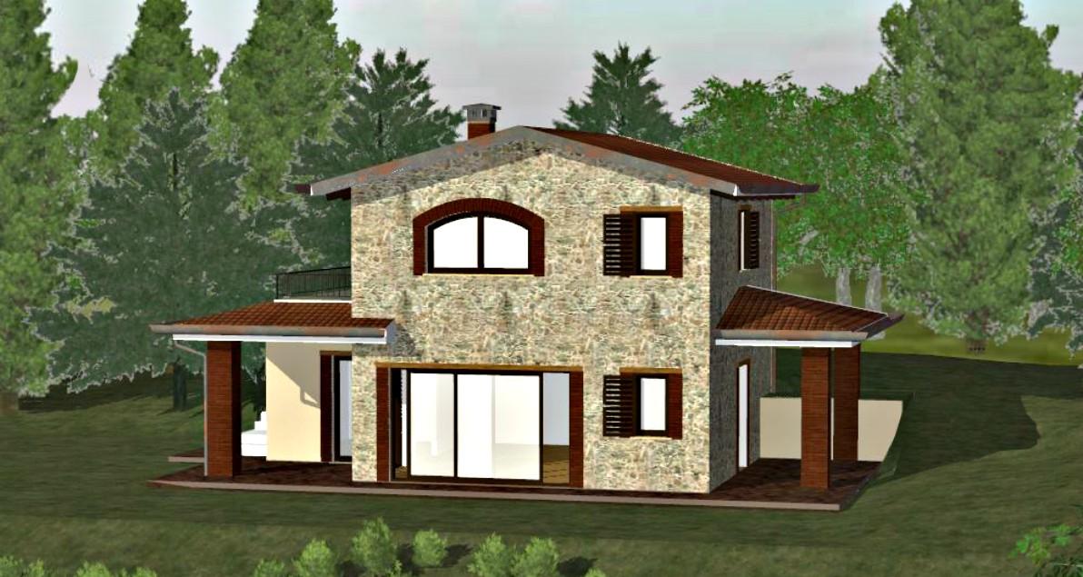 Paganico: Casale con terreno e progetto approvato (Rif.2167)